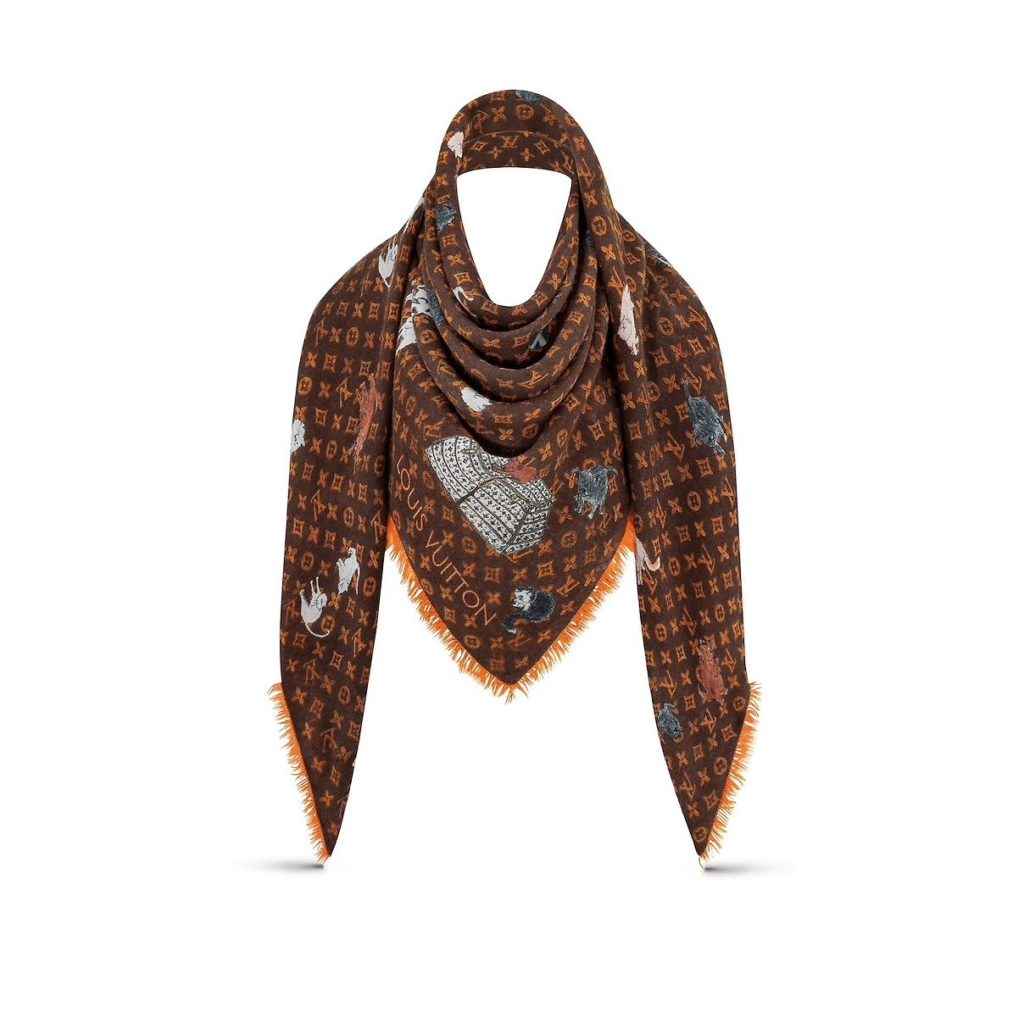 Louis Vuitton Catogram Collection Shawl