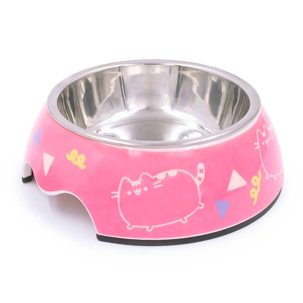 Pusheen stainless steel cat food bowl